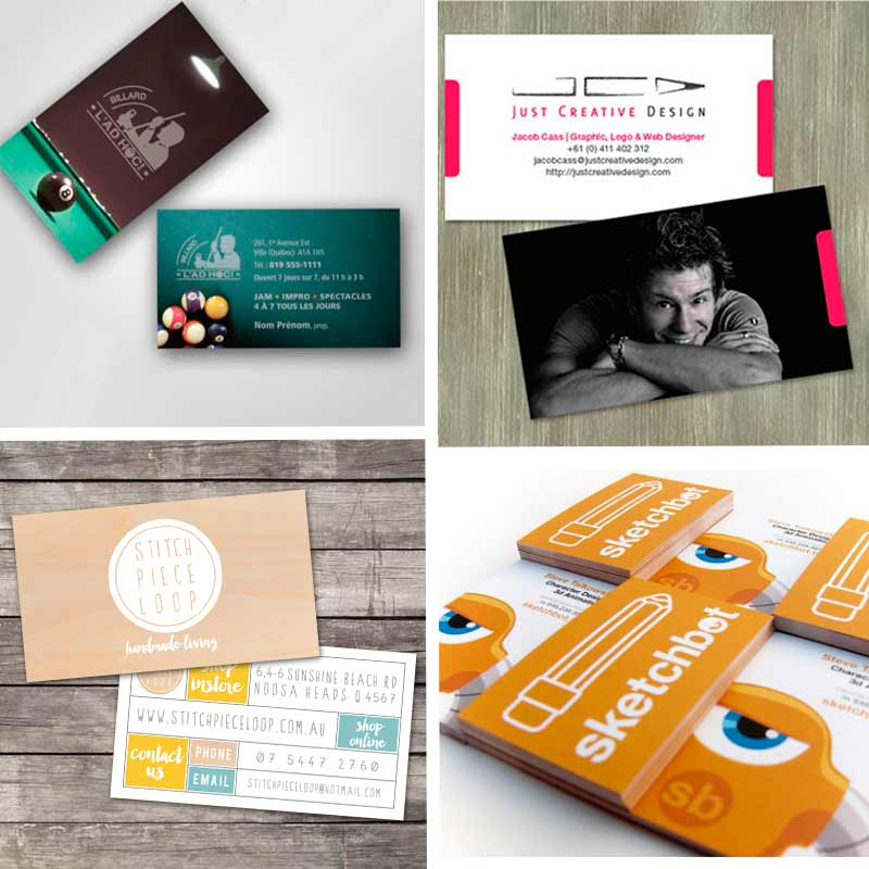 Double sided business cards creative ideas for your business 2 sided business cards with unusual and memorable design reheart Choice Image