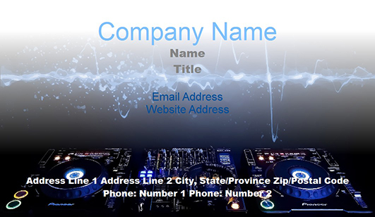 DJ Business Card Templates JuicyBC Blog - Free dj business card template
