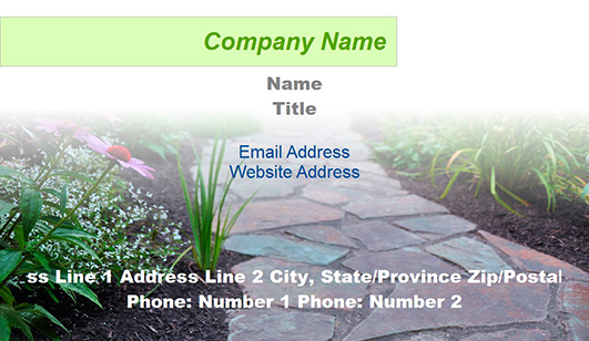 Landscaping Design Business Card Templates Juicybc Blog