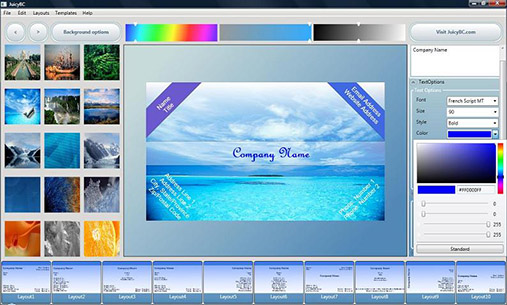 Visiting card design software download juicy business card for free download colourmoves