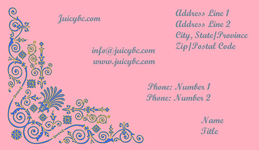 Business card elegant themes including ornament