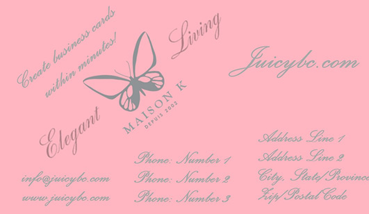 Elegant business card templates free with color variations
