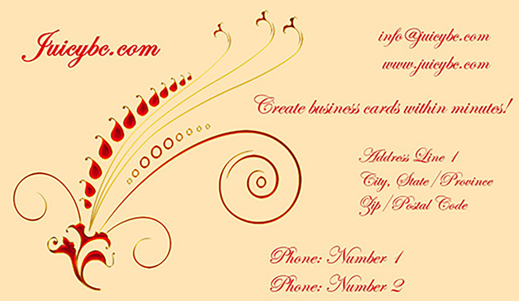 Business card maker designer print your own business cards juicybc i purchased your juicy business card system and have been having a good play with it reheart Images