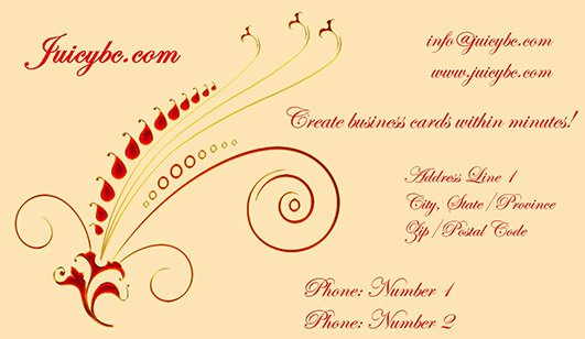 Custom business card maker