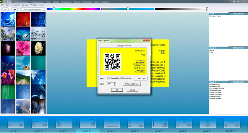 QR code business card tutorial: step 4-1