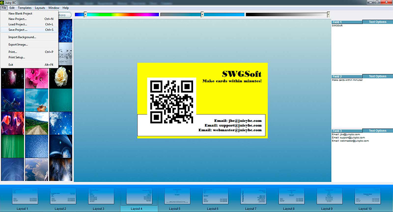 QR code business card tutorial: step 6-1