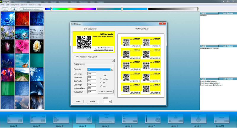 QR code business card tutorial: step 6-2