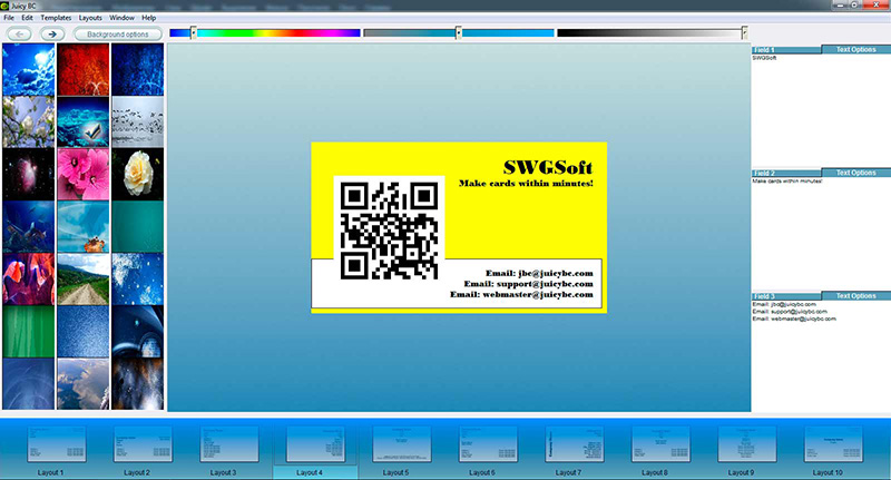 QR code business card tutorial: step 6