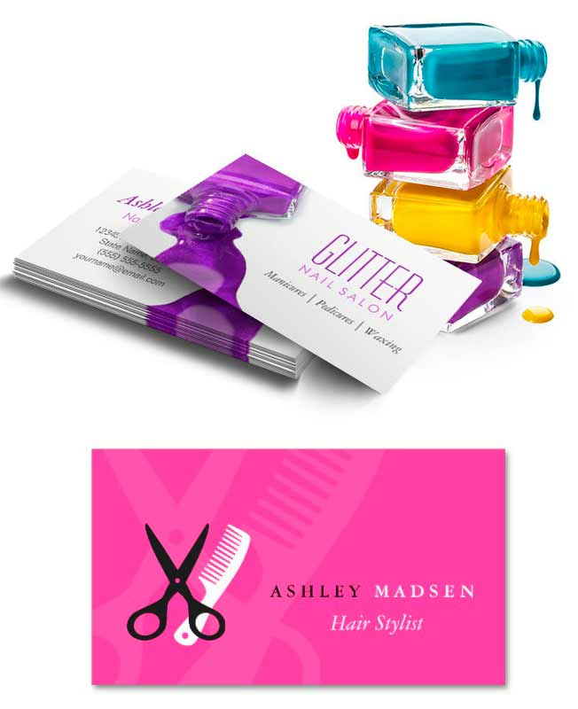 More salon business card examples