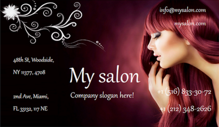 Salon business cards quick tips and unusual ideas juicybc blog visiting card edited in juicybc software colourmoves